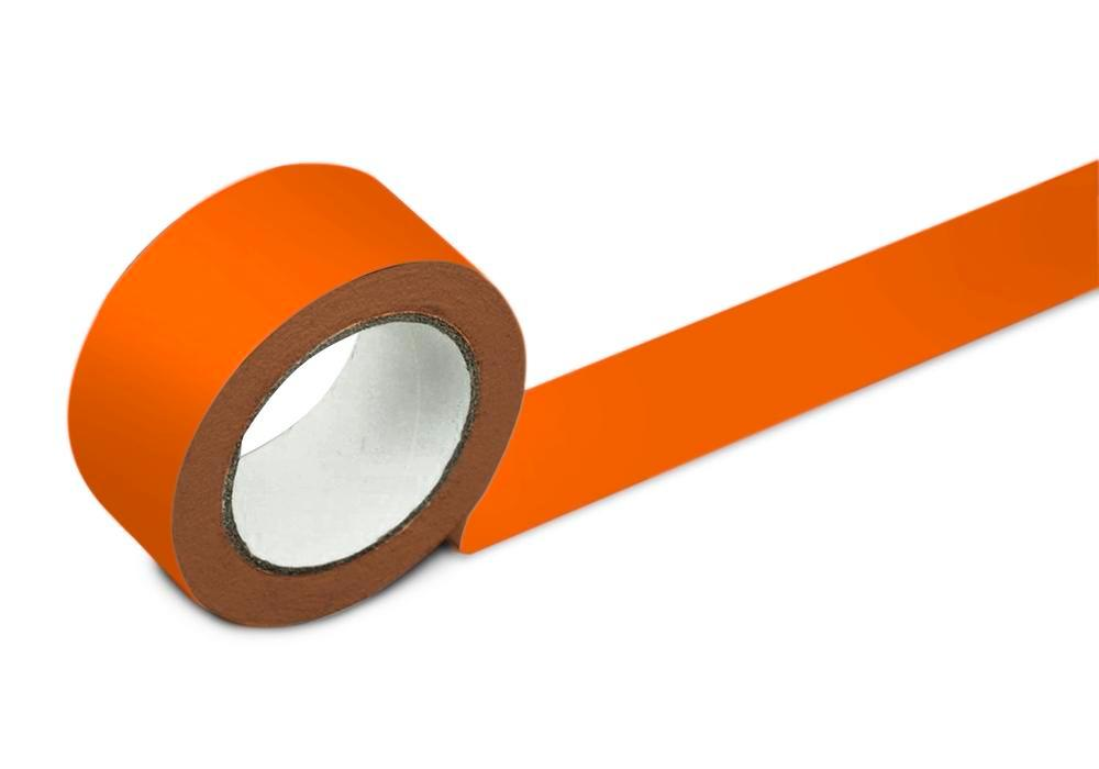 Bodenmarkierband, 75 mm breit, orange, 2 Rollen - 1