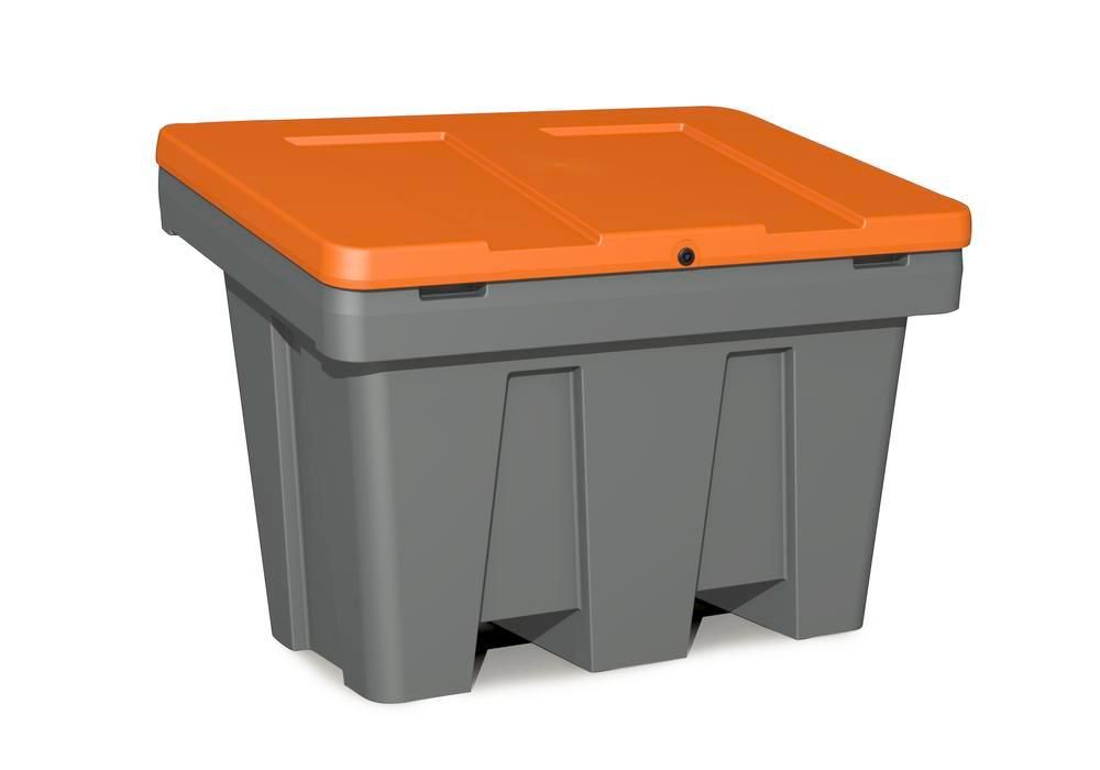 Streugutbehälter Typ GB 300 aus Polyethylen (PE), 300 Liter Volumen, Deckel orange - 1